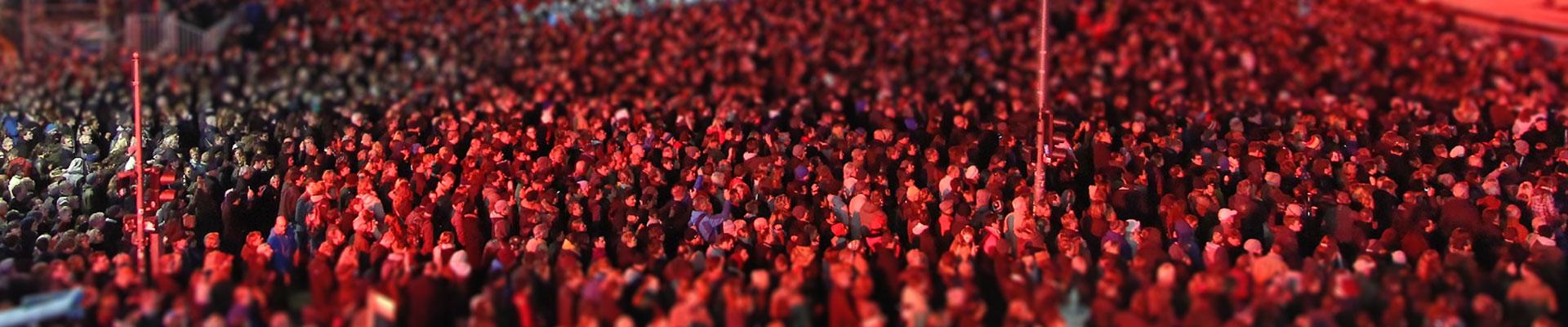Menschenmenge bei einer Grossveranstaltung.