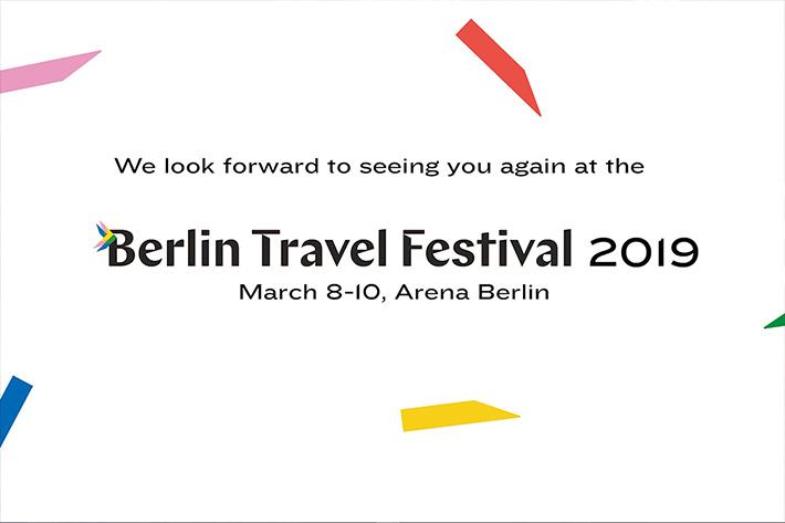 Berlin Travel Festival 2018: Hinweis auf die Folgeveranstaltung im März 2019.