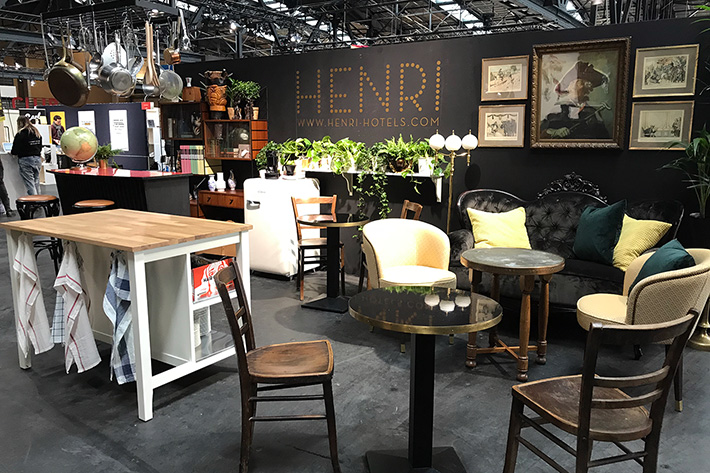 Berlin Travel Festival 2018: Messestand der Henri-Hotels.